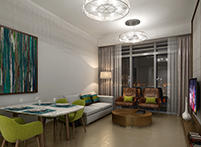 Living and Dining Area Luxury Apartment